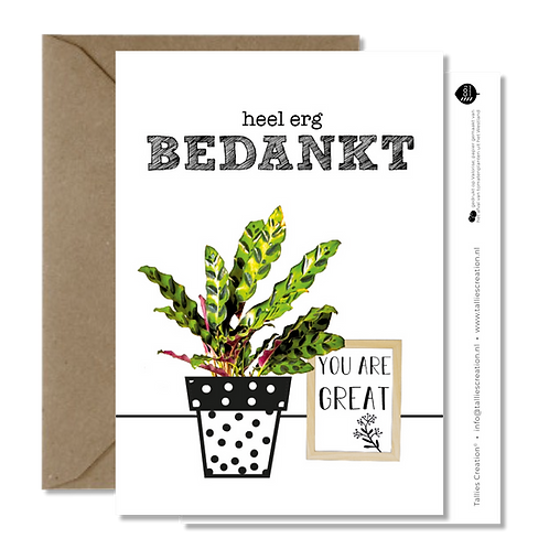 Bedankt - Plant wenskaarten