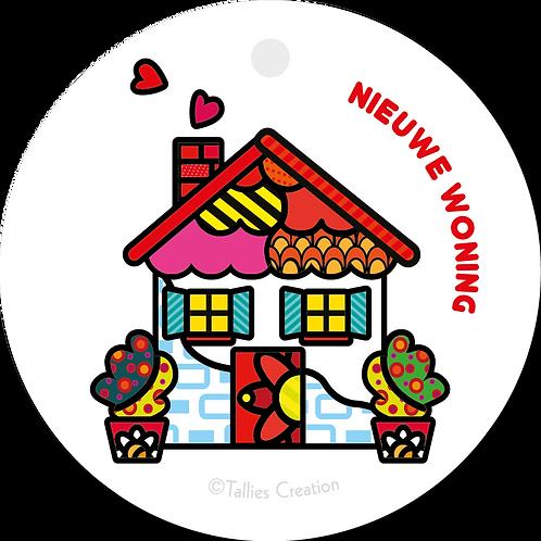 Nieuwe Woning - Popart - set van 5 kaarten