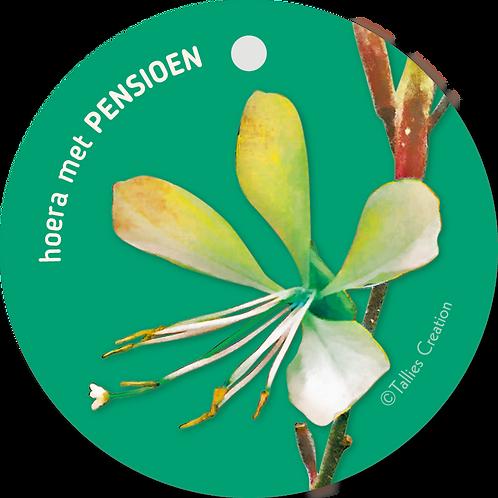 Pensioen - Flowerpower - set van 5 kaarten