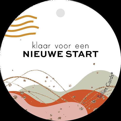 Nieuwe start - Abstract - set van 5 kaarten