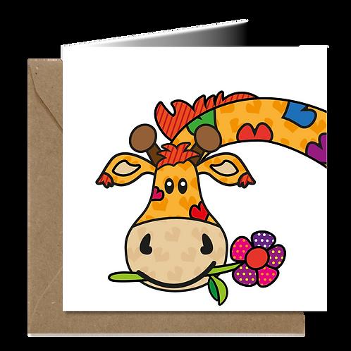 Giraf - PopArt wenskaarten