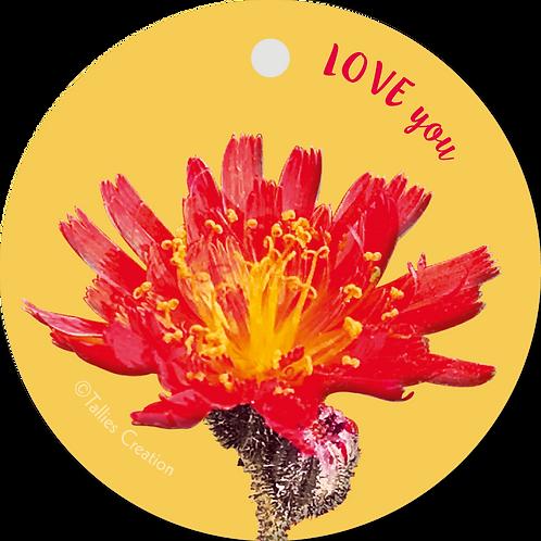 Love you - Flowerpower - set van 5 kaarten