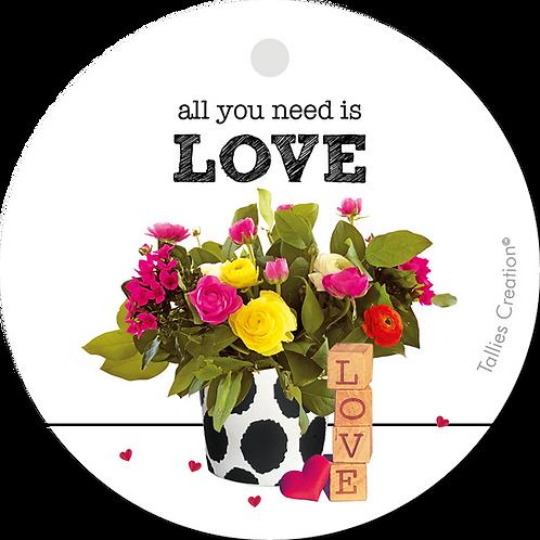 All you need is LOVE - Plant - set van 5 kaarten