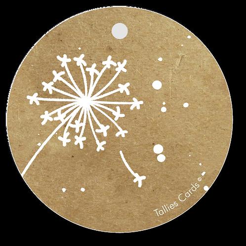 Blanco paardenbloem - Kraft Look a Like - set van 5 kaarten