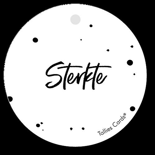 Sterkte - Black&White - set van 5 kaarten