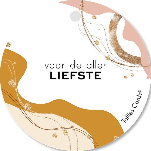 Liefste - Abstract - set van 5 kaarten