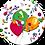 Thumbnail: Gefeliciteerd ballonnen - Primo - set van 5 kaarten