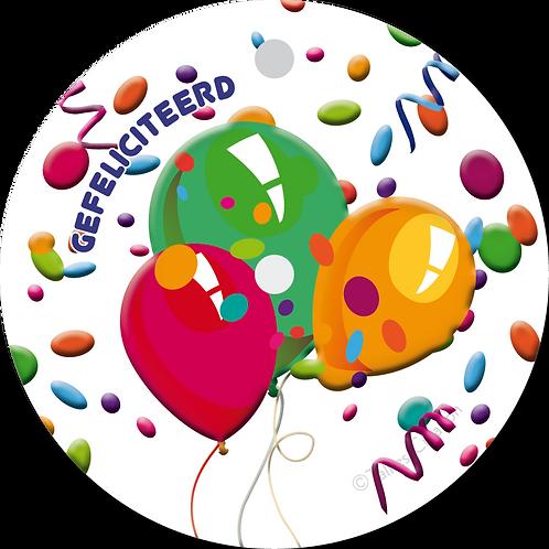 Gefeliciteerd ballonnen - Primo - set van 5 kaarten