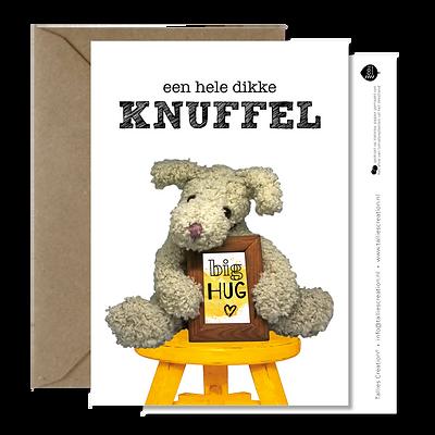 Knuffelkaarten - Knuffel wenskaartenset (5 stuks)