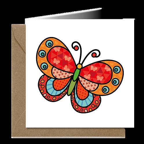 Vlinder - PopArt wenskaarten