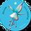 Thumbnail: Welkom kleine ukkepuk blauw - Flowerpower - set van 5 kaarten