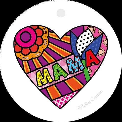 Mama - Popart - set van 5 kaarten