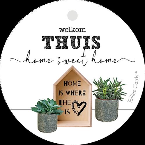 Welkom Thuis - Plant - set van 5 kaarten