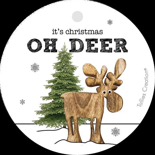 Oh Deer KERST  - Plant - set van 5 kaarten