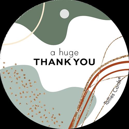 Thank you - Abstract - set van 5 kaarten