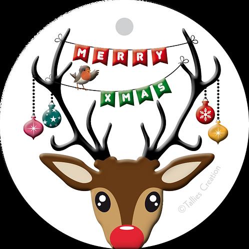 Merry Xmas - Primo - set van 5 kaarten