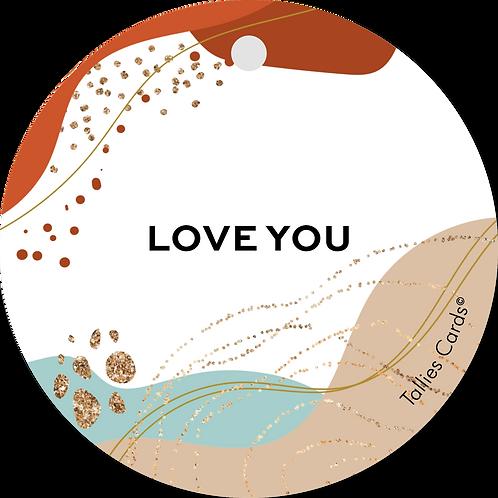 Love you - Abstract - set van 5 kaarten