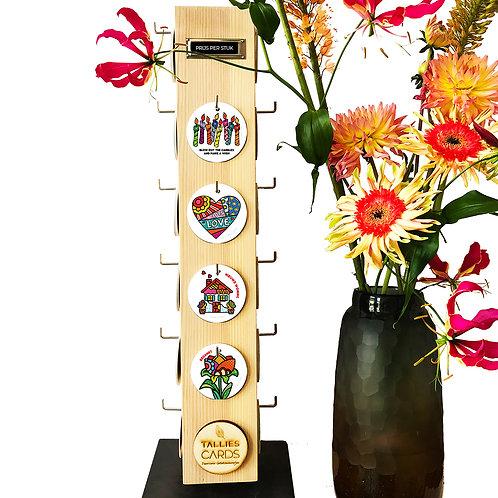Display 22-haaks met 440 bloemenkaartjes