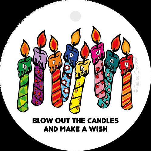 Verjaardagskaarsjes - Popart - set van 5 kaarten
