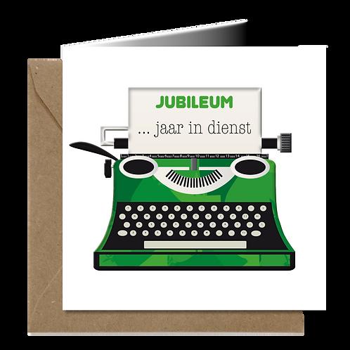 Jubileum typemachine - PopArt wenskaarten