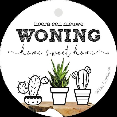 Woning - Plant - set van 5 kaarten