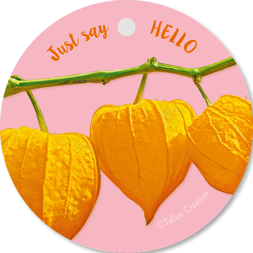Just say hello - Flowerpower - set van 5 kaarten