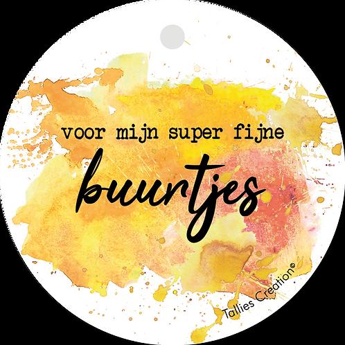 Super fijne Buurtjes - Aquarel - set van 5 kaarten