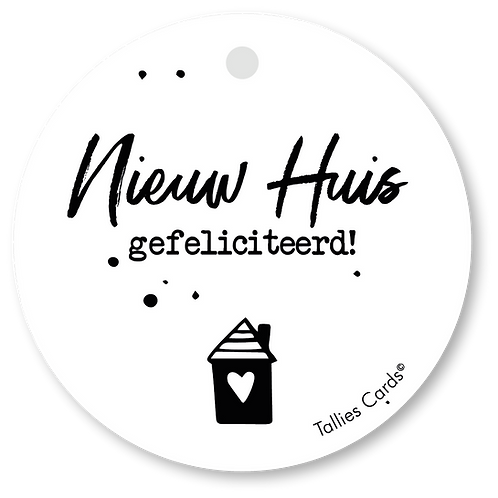 Nieuw huis gefeliciteerd - Black&White - set van 5 kaarten