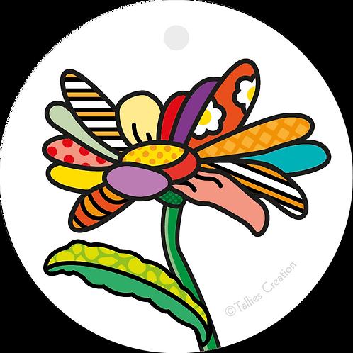 Blanco bloem - Popart - set van 5 kaarten