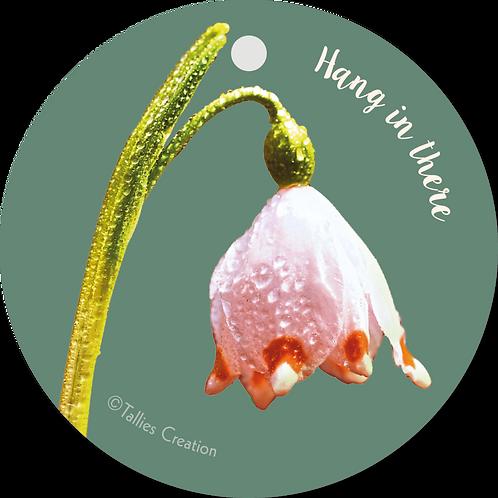 Hang in there - Flowerpower - set van 5 kaarten