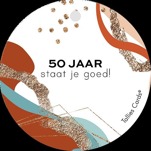 50 Jaar - Abstract - set van 5 kaarten