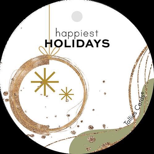 Happiest holidays - Abstract - set van 5 kaarten