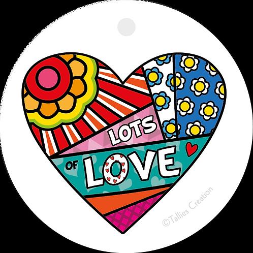 Lots of Love - Popart - set van 5 kaarten