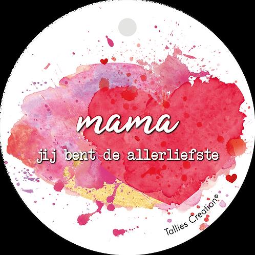 Mama allerliefste - Aquarel - set van 5 kaarten