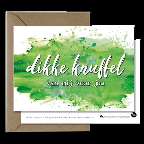Dikke knuffel - Aquarel wenskaarten