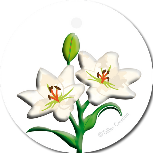 Blanco lelie - PrimoFiori - set van 5 kaarten