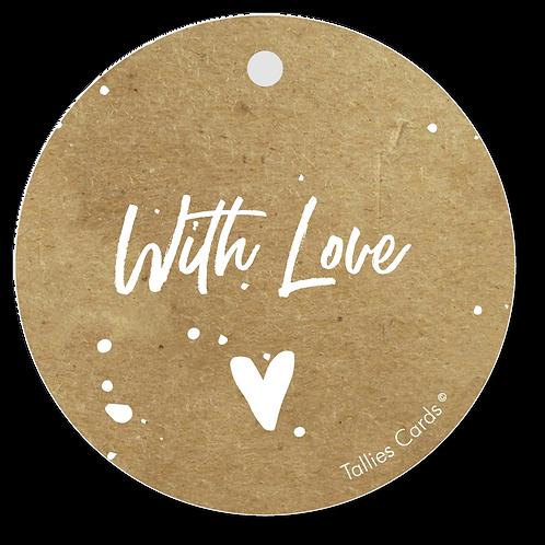 With love - Kraft Look a Like - set van 5 kaarten