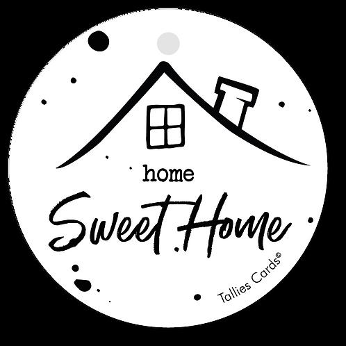 Home sweet home - Black&White - set van 5 kaarten
