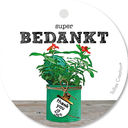 Super Bedankt - Plant - set van 5 kaarten