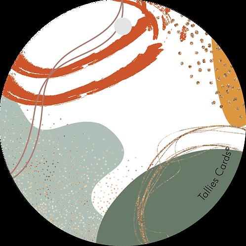 Blanco - Abstract - set van 5 kaarten
