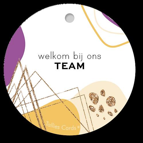 Team - Abstract - set van 5 kaarten