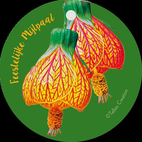 Feestijke mijlpaal - Flowerpower - set van 5 kaarten