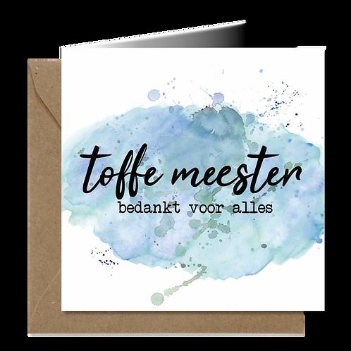 Toffe Meester - Aquarel wenskaarten