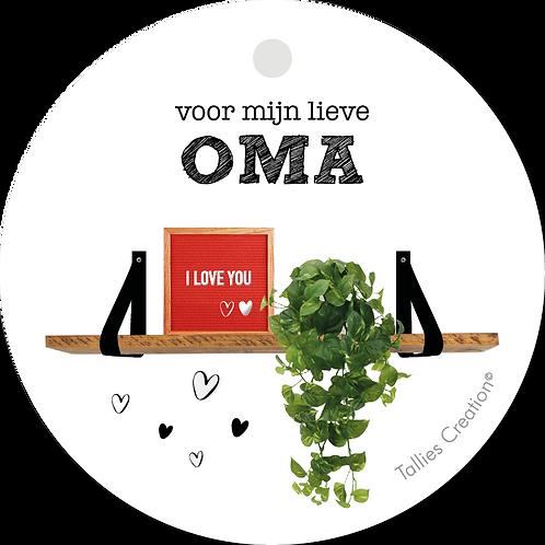 Oma - Plant - set van 5 kaarten