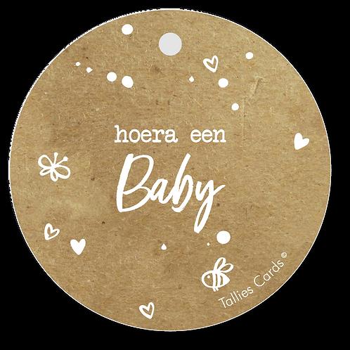 Hoera een baby - Kraft Look a Like - set van 5 kaarten