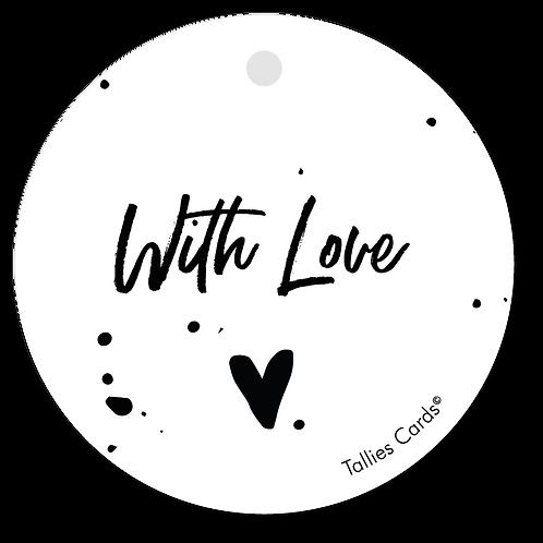 With Love - Black&White - set van 5 kaarten