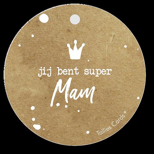 Jij bent super mam - Kraft Look a Like - set van 5 kaarten