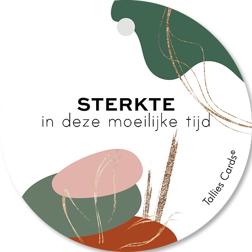 Sterkte - Abstract - set van 5 kaarten