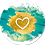Thumbnail: Blanco hart - Aquarel - set van 5 kaarten