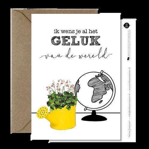 Geluk - Plant wenskaarten